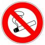 Disque d'interdiction - Défense de fumer