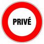Disque d'interdiction - 'Privé'