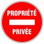 Disque d'interdiction - 'Propriété privée'