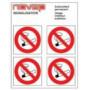 Disques d'interdiction - Défense de fumer