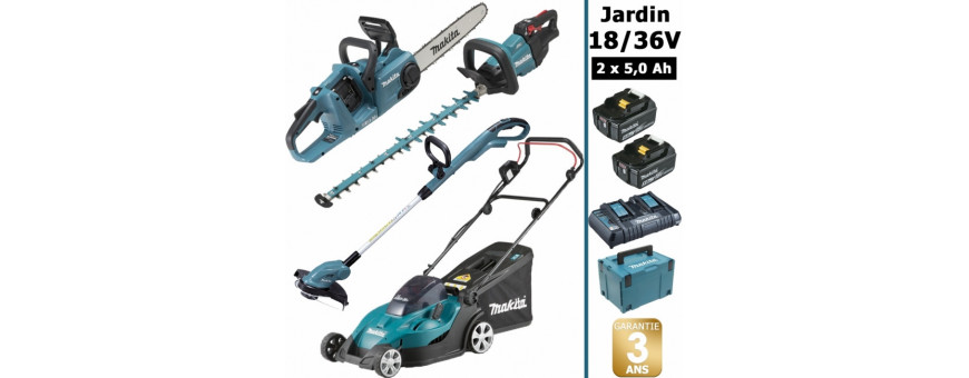 Pack d'outils jardin à moteur